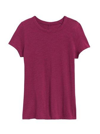 Slub Cotton-Modal Crew-Neck T-Shirt | Banana Republic