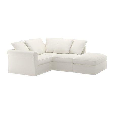 IKEA - GRÖNLID Corner sofa, 3-seat, with open end, Inseros white