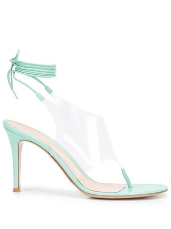 Gianvito Rossi PVC-insert thong sandals - FARFETCH