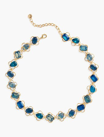 Mixed Gem Necklace in Teal Multi | Talbots