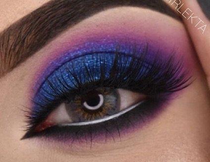 Blue & Purple Eye Makeup