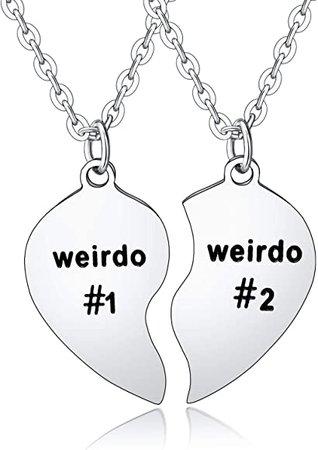 Amazon.com: BESPMOSP 2pc/Set Weirdo Pendant Necklace Best Gift for Boyfriend Girlfriend Husband Wife Couples Stainless Steel: Jewelry