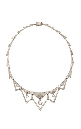 Art Deco Diamond Necklace by Simon Teakle | Moda Operandi
