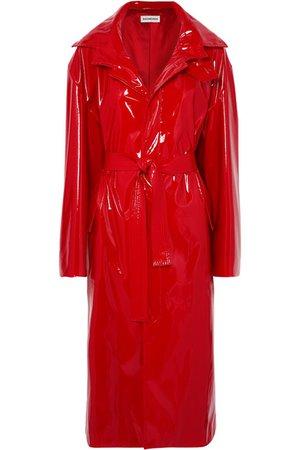 Balenciaga | Belted vinyl trench coat | NET-A-PORTER.COM