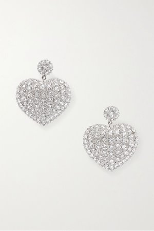 Silver Silver-tone crystal earrings | Balenciaga | NET-A-PORTER