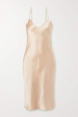 Silk-charmeuse Dress - Beige