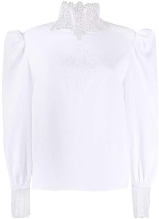Broderie Anglaise Insert Blouse