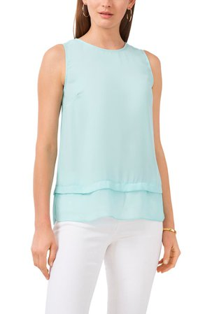 Vince Camuto Layered Sleeveless Blouse | Nordstrom