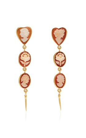 Grainne Morton Cameo Drop Earrings