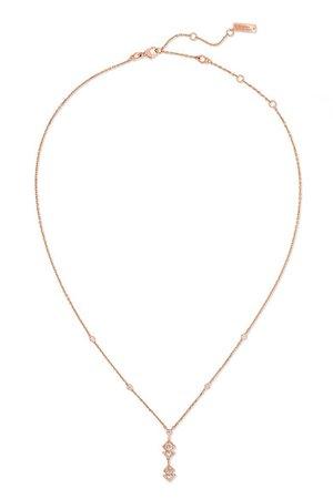 Messika | + Gigi Hadid My Soul 18-karat rose gold diamond necklace | NET-A-PORTER.COM
