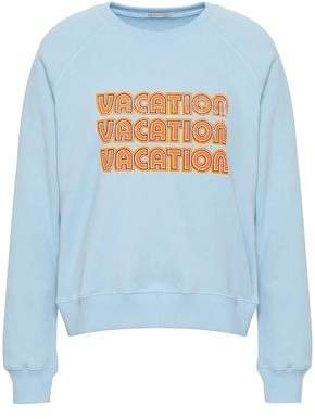 Printed Cotton-blend Fleece Sweatshirt