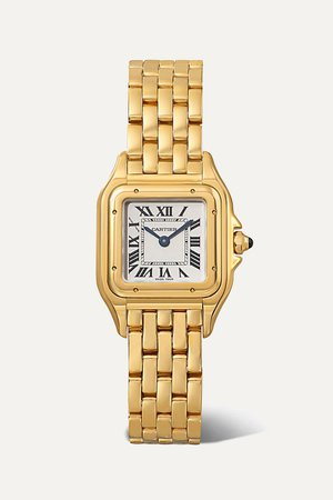 Gold Panthère de Cartier small 22mm 18-karat gold watch | Cartier | NET-A-PORTER