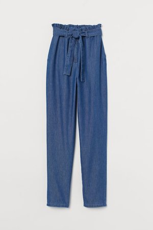 Paper-bag Jeans - Denim blue - Ladies | H&M US