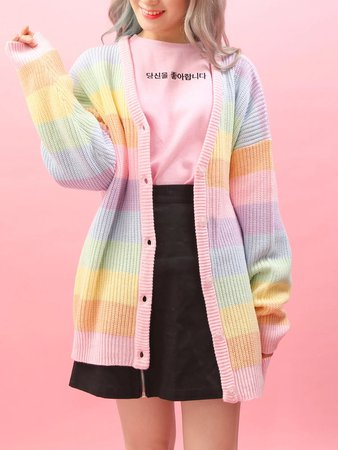 Pastel Rainbow Cardigan by WC