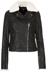 leather biker jacket with white collar - Google Search