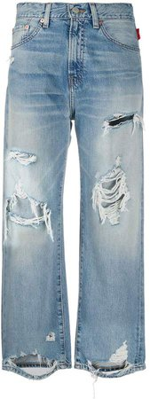 Denimist ripped cropped jeans