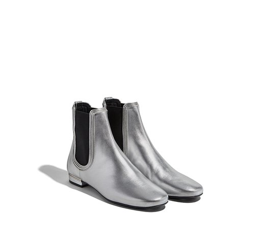 Silver low boot