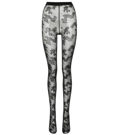 Saint Laurent - Floral lace tights | Mytheresa