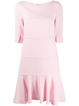 Shop pink Talbot Runhof panelled shift dress with Express Delivery - Farfetch