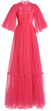 Huishan Zhang January Pleated Tulle Dress