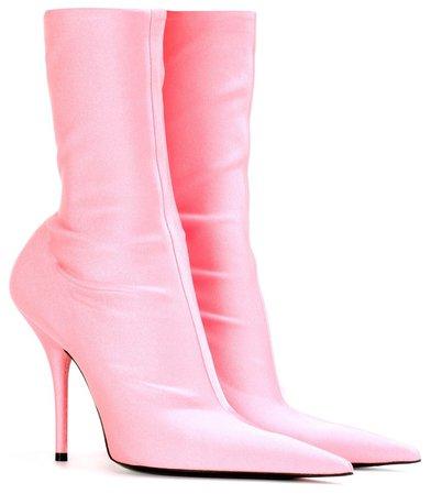 BALENCIAGA Baby Pink Knife Boots