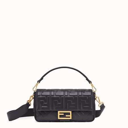 Black leather bag - BAGUETTE | Fendi