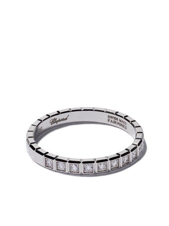 Chopard 18Kt White Gold Ice Cube Diamond Ring Continuity | Farfetch.com
