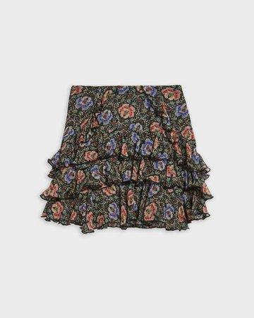 Printed mini skirt - Black | Skirts | Ted Baker