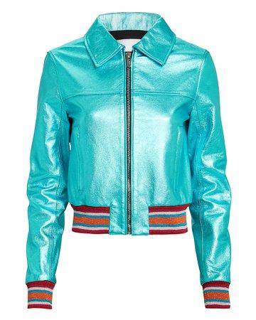 The Kensington Metallic Leather Jacket