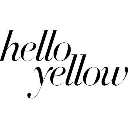 hello yellow text
