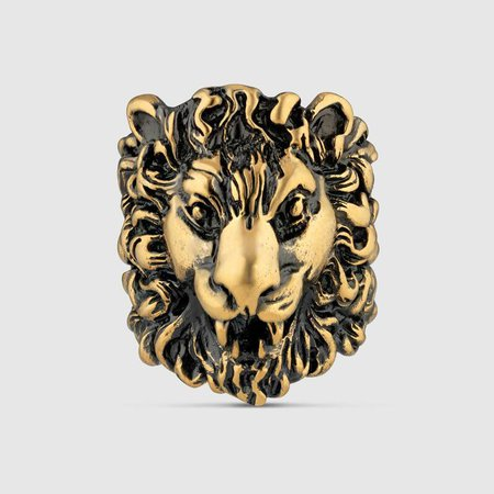 Lion head ring | GUCCI®