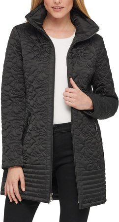 Water Resistant Quilted Long Coat