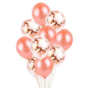 confetti ballonnen rose gold 15 stuks - Monofun