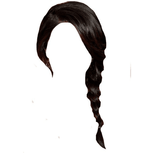 Black Hair PNG Side Braid