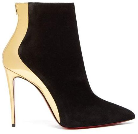Christian-Louboutin-Delicotte-100-Suede-And-Leather-Ankle-Boots---Womens---Black-Gold.jpg (484×472)