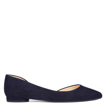 Observe D'Orsay Flats - French Navy Suede | Nine West Shoes for Women | Nine West Handbags for Women