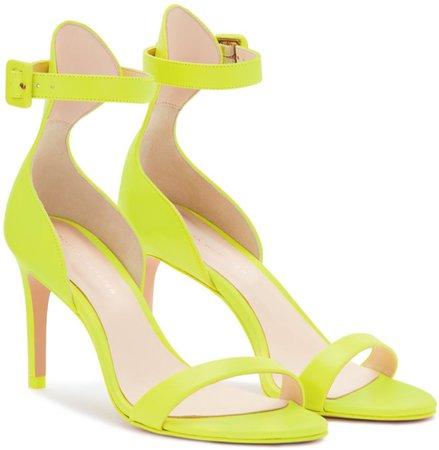 Sophia Webster Nicole 85 neon yellow