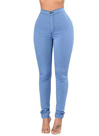 Amazon.com: Sidefeel Women High Waist Long Skinny Jeans Stretch Denim Leggings: Clothing