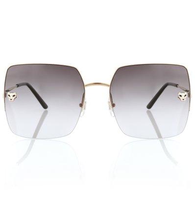Panthère De Cartier Sunglasses in yellow gold, Cartier Eyewear Collection