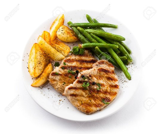 Google Image Result for https://image.shutterstock.com/image-photo/plate-grilled-chicken-vegetables-isolated-260nw-767067433.jpg