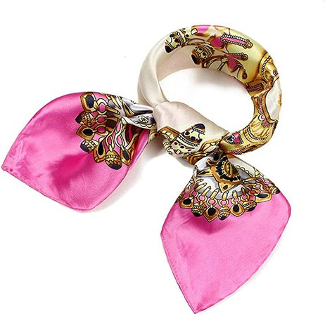 QBSM Womens 23.6 35.4 inch Satin Silk Feeling Formal Square Neck Scarf Head Hair Wraps at Amazon Women's Clothing store