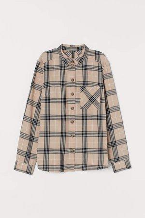 Cotton Shirt - Beige