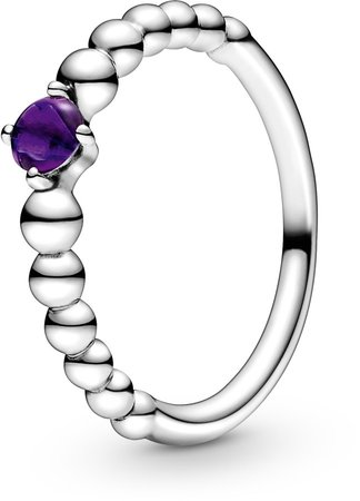 Purple Beaded Stacking Ring