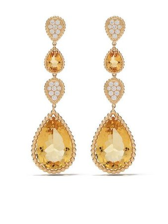 Boucheron 18kt yellow gold Serpent Bohème citrine and diamond pendant earrings $15,900 - Shop SS19 Online - Fast Delivery, Price