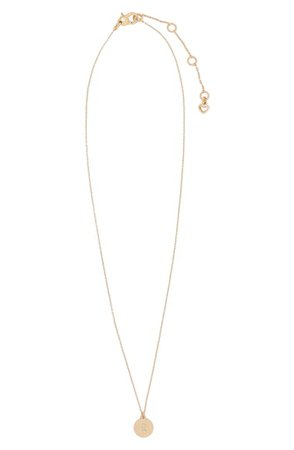 kate spade new york mini initial pendant necklace   Nordstrom