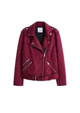 Violeta BY MANGO Belted biker jacket