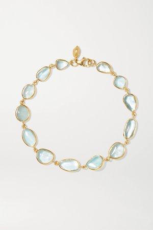 Gold 18-karat gold aquamarine bracelet | Pippa Small | NET-A-PORTER