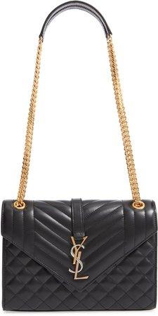 Medium Monogram Quilted Leather Shoulder Bag