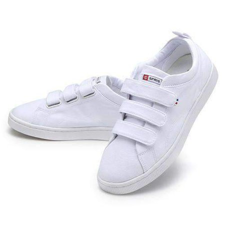 White Twice Teen Shoes