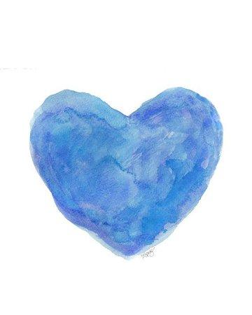 Blue Watercolor Heart